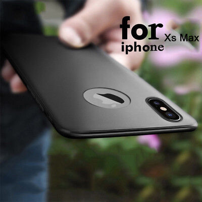 For iPhone XR Xs Max X Luxury Ultra-thin Shockproof Matte Rubber Case Slim Cover