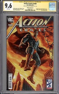 Action Comics  #1000  Cgc Ss 9.6  (Remarqued & Signed By Lee Bermejo)