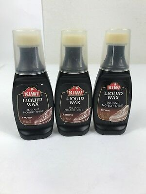 93422bf872de2 2 X KIWI Brown Instant Wax Shine High Gloss Boots Shoe Polish Liquid ...
