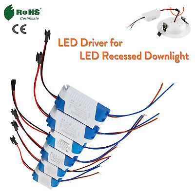 LED Driver 1W To 24W AC to DC Power For LED Recessed Ceiling Downlights RD476