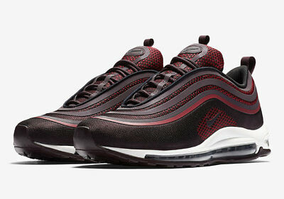 Nike Air Max 97 Prem Tape QS White light grey wine red black Mens Winter Running Shoes NIKE009547