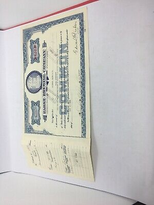 PBR PABST BLUE RIBBON Beer VINTAGE 1949 Stock Certificate Goldman 100 Shares