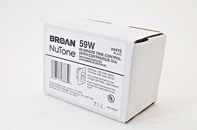 Broan NuTone 59W 60-Minute Time Control White NEW NIB