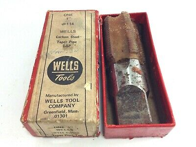 """Wells Tool Company Carbon Steel Taper Pipe Taps 1"""""""