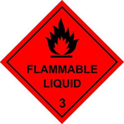 Hazchem Diamond Magnetic Sign 200mm by 200mm Screen Printed Safety Label Vehicle
