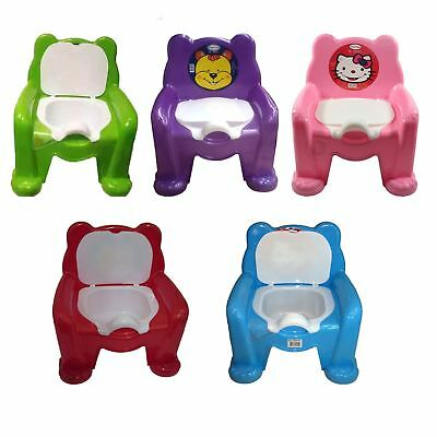 New Easy Clean Kids Toddler Potty Training Chair Seat Removable Potty Lid