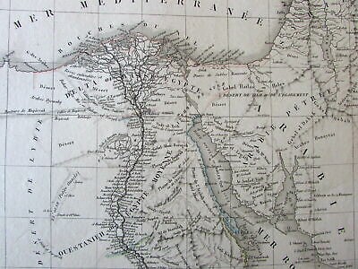 Egypt Nile river North Africa Red Sea 1834 Vivien lovely large old map