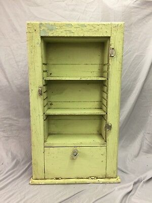Antique Wall Cupboard Medicine Cabinet Shelves Recessed Shabby Vtg Chic 243-18C