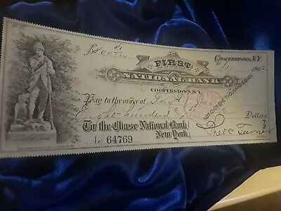 obsolete us paper money, 1882 First National Bank of Cooperstown