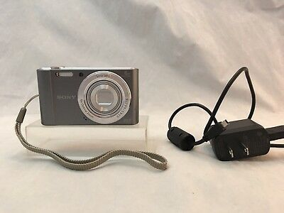 Sony Cyber-shot DSC-W810 20.1MP Digital Camera, Silver, Clean,