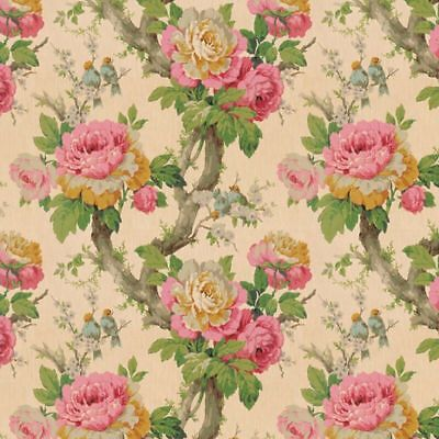 Dollhouse Miniature 1:12 Scale Wallpaper Vintage Cabbage Roses by Bradbury and B