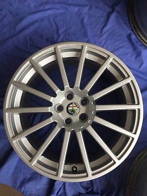 "Alfa Romeo 17"" Genuine Original Alloy Wheel Amazing Condition NO Kerbing (#3)"