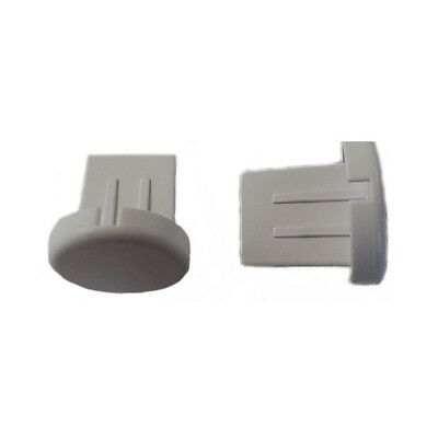 Pairs Of Grey Round Base Bar End Caps Roller/Holland Blind Bottom Rail Part New