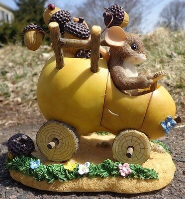 Signed Charming Tails SOMETIMES THE ROAD IS BUMPY 85/516 Acorns ~ FREE SHIPPING