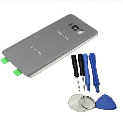 Glass Battery Back Cover for Samsung Galaxy S8 Plus G955 + Cam Lens Tools Tape