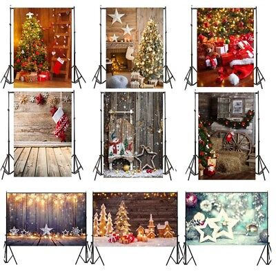 Xmas Vinyl Photo Backdrops Merry Christmas Photography Background Studio Props