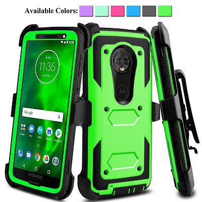 For Motorola Moto G6/G 6th gen. Shockproof Case With Kickstand Belt Clip Holster