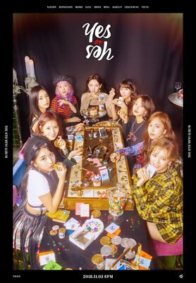 TWICE [YES or YES] 6th Mini Album 3Ver SET+3p POSTER+3Book+18p Card+3ea PreOrder