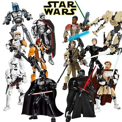 Star Wars Buildable Figure Kylo Ren Rey General Grievous Chewbacca Darth Vader