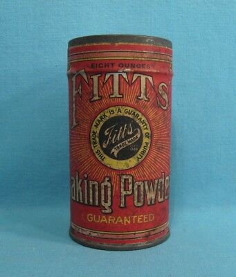 UNOPENED - Fitts' Baking Powder Tin - Pueblo, Colorado CO - HAVE NEVER SEEN ONE!