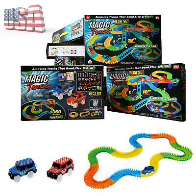 Magic Tracks 18 ft 360 PCS Mega Set / 2 LED Cars