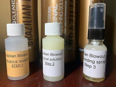 Brazilian blowout original solution kit 1oz includes ionic bonding spray