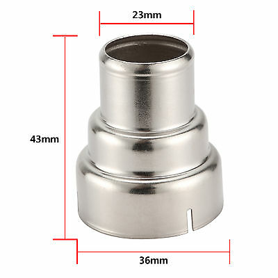 1 x Silver Stainless Steel 3 Layer Reducing Nozzle For Heat Gun Accessories