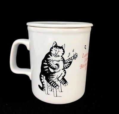 Vintage Kliban Cats Covered Lidded Mug Music Made For Each Other England S.D.O.
