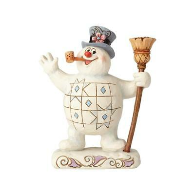 Jim Shore Frosty The Snowman New 2018 FROSTY WITH BROOM 6001578 SEE YOU NEXT