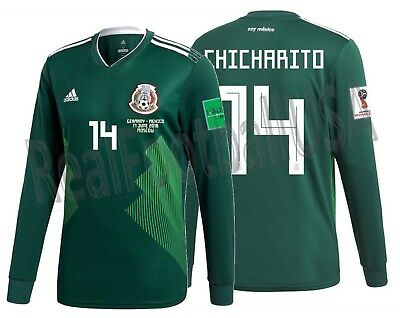 83f996e69d9 Adidas Chicharito Mexico Long Sleeve Home Jersey World Cup 2018 Match Detail