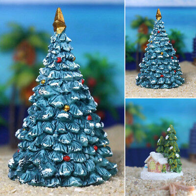 aquarium fish tank landscaping resin crafts christmas tree house ornaments decor