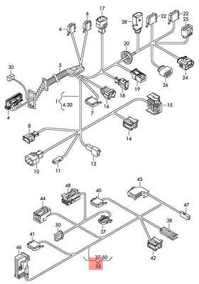 GENUINE VW TOUAREG Wiring Harness For Door Trim Panel ... on vw wiring diagrams, dual car stereo wire harness, 2001 jetta dome light harness, vw headlight wiring, vw coil wiring, vw wiring kit, vw beetle carburetor wiring, 68 vw wire harness, vw alternator wiring, vw bus wiring location, vw ignition wiring, goldfish harness, figure 8 cat harness, vw starter wiring, besi harness, vw bus regulator wiring, vw engine wiring,
