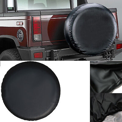 """17 Inch 4x4 4WD Black Spare Wheel Cover Tyre Fit Car Tire Diameter 80~83cm 32"""""""