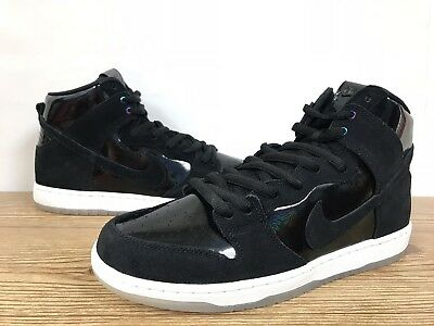 382b24136264b NIKE SB ZOOM DUNK HIGH PRO 854851-001 IRIDESCENT BLACK WHITE CLEAR DS Sz  10.5