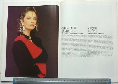 CHARLOTTE RAMPLING => COUPURE DE PRESSE 2 PAGES 1988 / French clipping