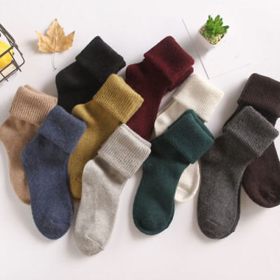 Women 90%Cashmere Wool High Solid Thick Winter Warm Soft Comfort Boot Socks