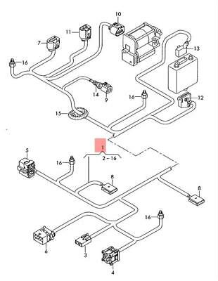 Genuine Audi A6 Allroad Qu Adapter Wiring Set For Reducing Agent