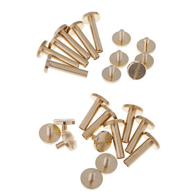 4 6 8 10 12 mm Laiton Tête Bouton Clous Vis Clou Screwback Cuir Chicago Rivet