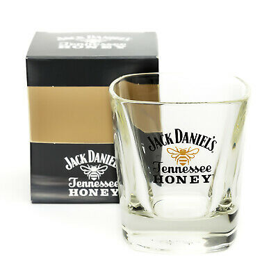 Jack Daniels Tennessee Honey Whisky Glass Tumbler Home Pub Bar Present Boxed New