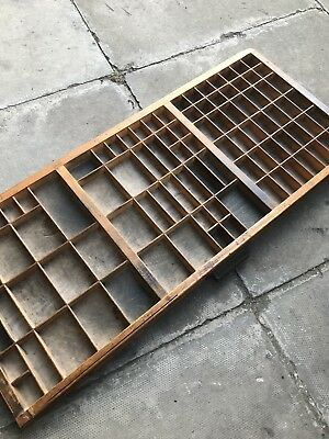 Vintage Print tray printers drawer wooden type case miniatures display W17