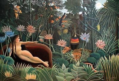 Canvas Paper A4 or A3 EXOTIC FOREST by Henri Rousseau Matt Glossy