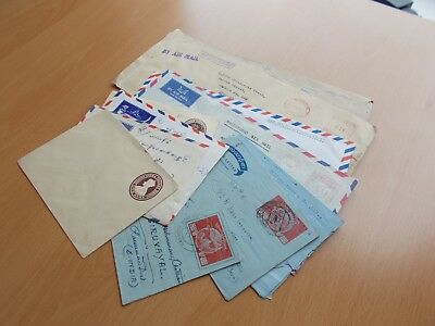 9 x Burma Commercial Mail Covers & 2 unused items.  See pics for info.