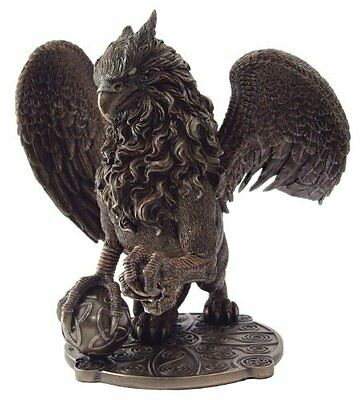 "9.5"" Celtic Griffin Fantasy Creature Statue Sculpture Figure Lion Eagle"