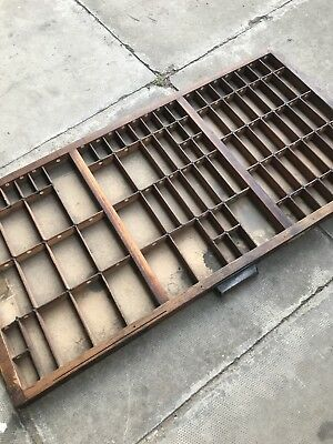 Vintage Print tray printers drawer wooden type case miniatures display W23