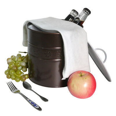 3L​ ​​Cream Ice Bucket Wine Beer Cooler with Lid & Handle and Tong Double Walled