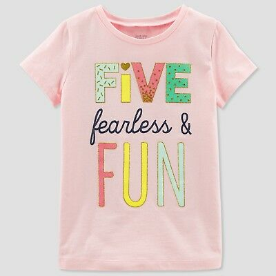 Baby Girls' 5 Fearless Short sleeve T-Shirt - Just One You made by carter's 5T