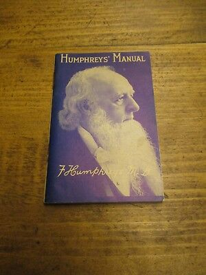 1930 Humphreys' Manual Near mint Homeo Medicine booklet