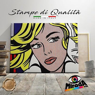 Roy Lichtenstein mmaybe QUADRO STAMPA SU TELA CANVAS ARTE ARREDAMENTO POP ART