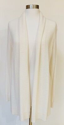 345 NWT THEORY Ashtry J 100% Cashmere Cardigan Sweater Open Front ... 6249a43fb