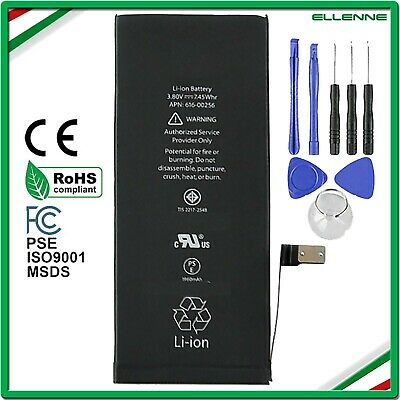 BATTERIA PER APPLE IPHONE 7 1960 mAh PARI ALL'ORIGINALE CON KIT CACCIAVITI